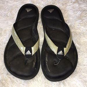 Adidas glitter Sandals size 10